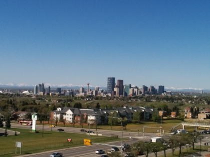 View of Calgary from my hotel room.